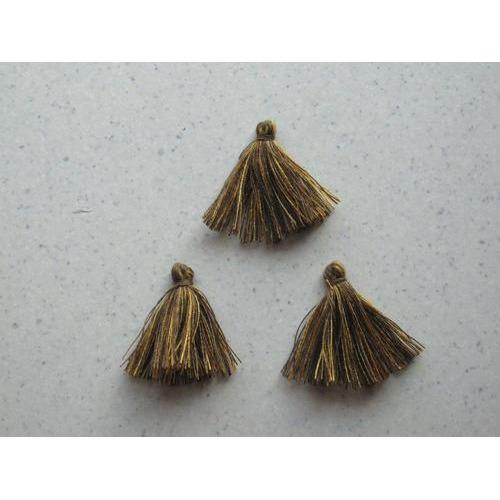 Kwastjes-tassel tinten bruin 3CM 3 ST 12317-1707
