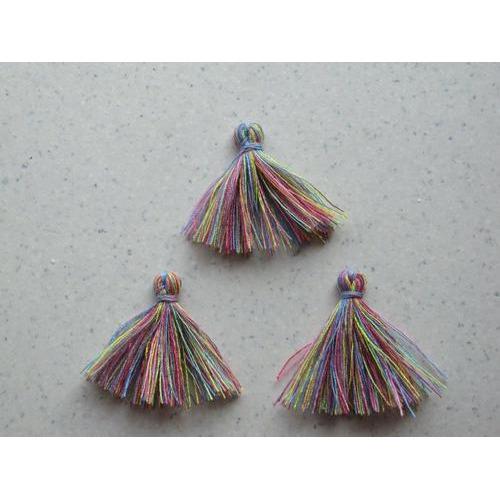 Kwastjes-tassel rainbow 3CM 3 ST 12317-1708