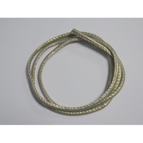 Koord imitatieleer zilver 4mm 1 mtr 1 ST 12252-5204