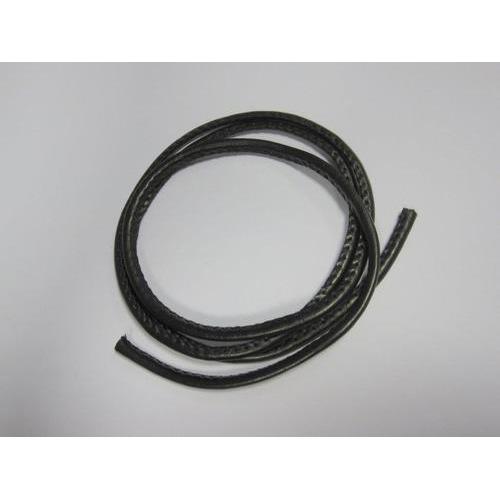 Koord imitatieleer zwart 4mm 1 mtr 1 ST 12252-5201