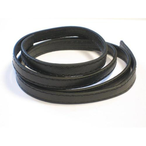Koord imitatieleer plat 9mmx1,5mm zwart 1m 12280-8003