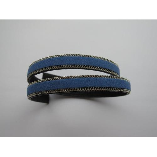 Band fluweel plat 10mmx2mm koningsblauw 50CM 12291-9106