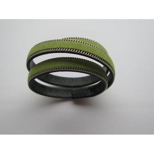 Band fluweel plat 10mmx2mm groen 50CM 12291-9105