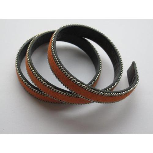 Band fluweel plat 10mmx2mm oranje 50CM 12291-9104