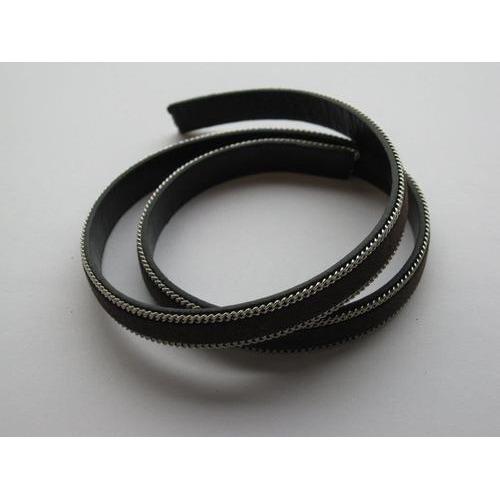 Band fluweel plat 10mmx2mm donker bruin 50CM 12291-9102