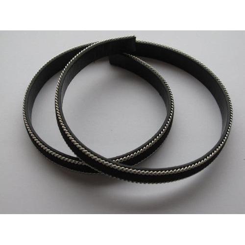 Band fluweel plat 10mmx2mm zwart 50CM 12291-9101