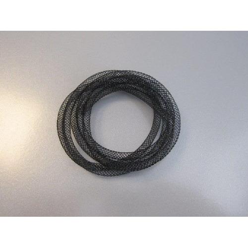 Fish Net Tubes 4mm zwart 1 MT 12331-3101