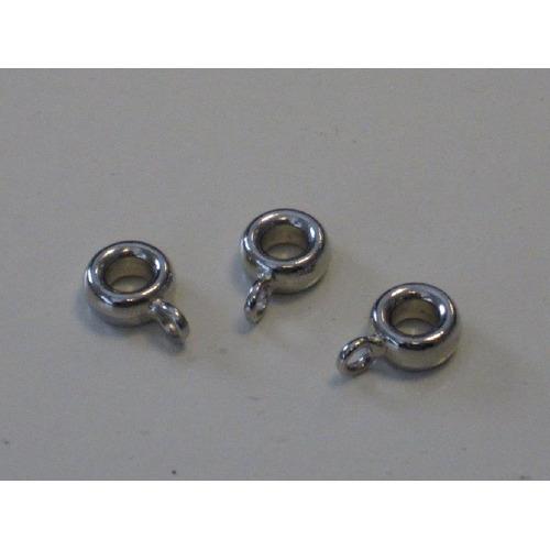 Hanger met oog 8mm platinum 3 ST 12169-6906