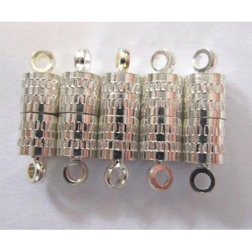Magneet sluiting Ton 8mm 5 ST platinum 10301-0921