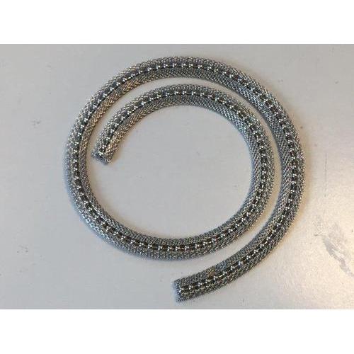 Metalen band met bal ketting platinum 95x35mm 50CM 12341-4102