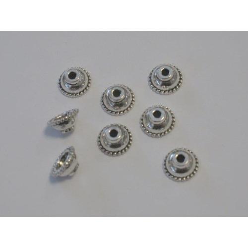 Kralenkapjes platinum 10MM 8 ST 12253-5306