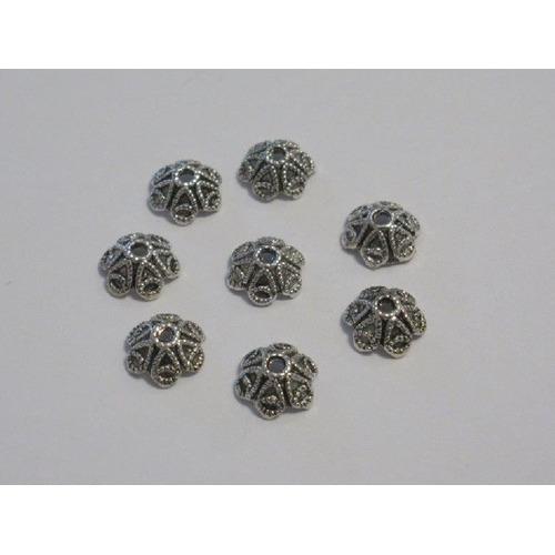 Kralenkapjes platinum 10MM 8 ST 12253-5302