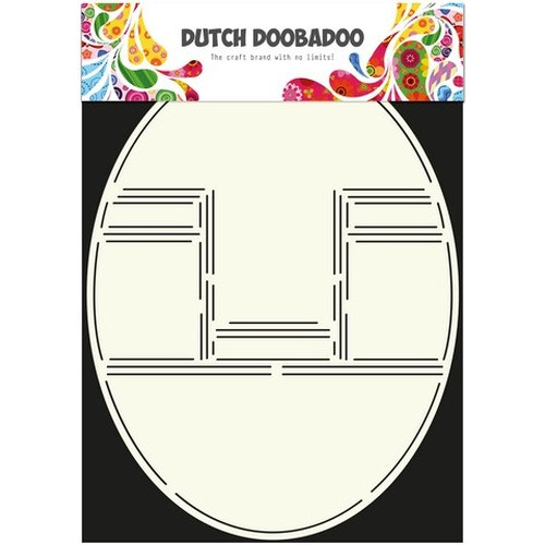 Dutch Doobadoo Dutch Card Art Stencil Pop-up kaart oval A4 470.713.304 (new 02-2016)