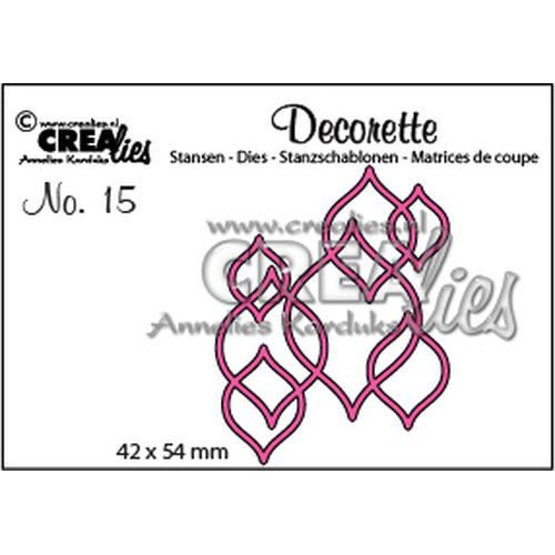 Crealies Decorette no. 15 Decorette no. 15 navette 42 x 54 mm / CLDR15