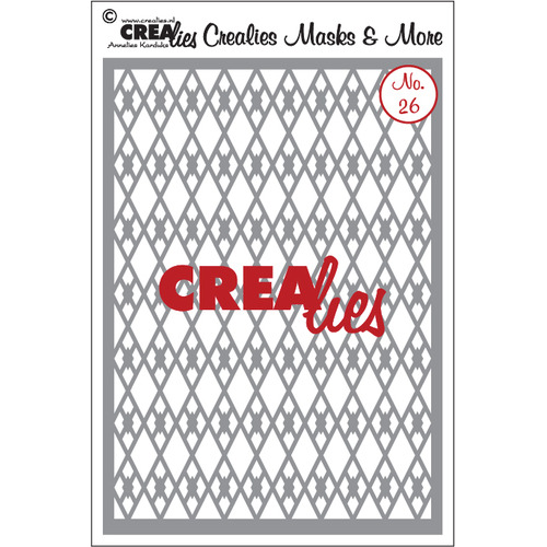 Crealies Masks & More no. 26 ruiten A5 / CLMM26