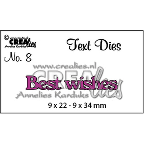 Crealies tekststans (Eng) Best Wishes 9 x 22 - 9 x 34 mm  / CLTD08