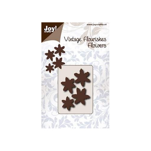 Joy! crafts - Die - Cutting - Vintage Flourishes - Flower - Bloem met 6 bladeren puntig