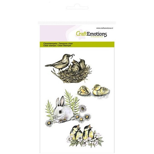 CraftEmotions clearstamps A6 - vogels, konijn (new 02-16)