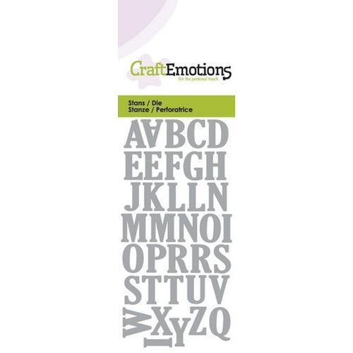 CraftEmotions Die - alfabet hoofdletters Card 5x10cm