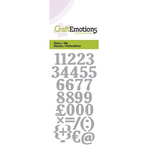 CraftEmotions Die - cijfers Card 5x10cm