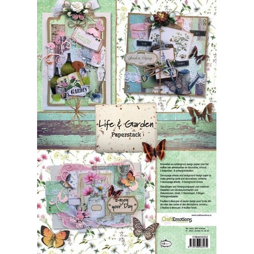 CraftEmotions Paper stack Life and Garden 11 vel A4
