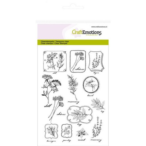 CraftEmotions clearstamps A6 - kruiden labels Life and Garden (new 03-16)