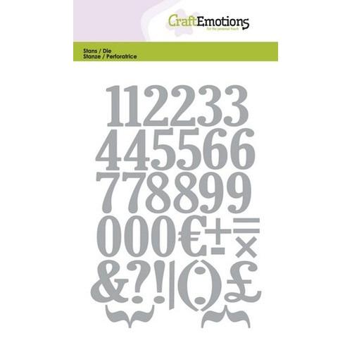 CraftEmotions Die - cijfers Card 10,5x14,8cm