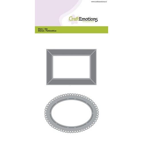 CraftEmotions Die - lijsten 2 Card 10,5x14,8cm