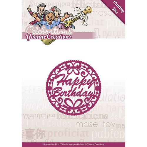 Die - Yvonne Creations - Celebrations - Happy Birthday