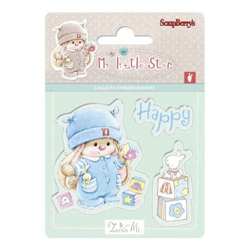 ScrapBerry`s Set Of Clear Rubber Stamps 7x7 cm My Little Star 1