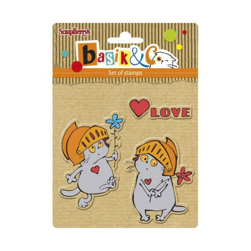 ScrapBerry`s Set Of Clear Rubber Stamps 10,5x10,5 cm Basic`s New Adventure 3