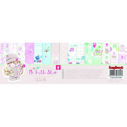 ScrapBerry`s My Little Star Paper Set 12x12 Inch 190gsm (9 Sheets Per Pack)