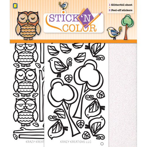 Stick n Color Owl