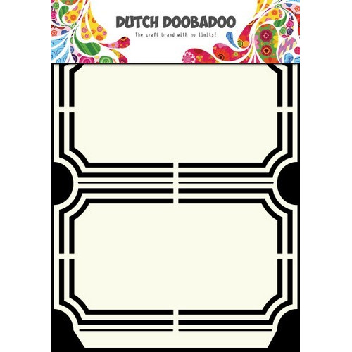 Dutch Doobadoo Dutch Shape Art frames verpakking ticket A5 470.713.129 (new 03-2016)