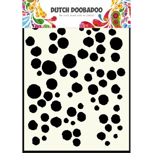 Dutch Doobadoo Dutch Mask Art stencil Grunge dots A5 470.715.101 (new 03-16)