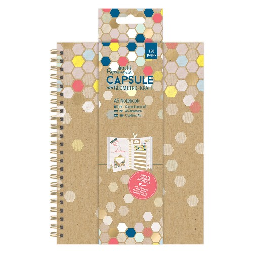 A5 Notebook - Capsule -  Geometric Kraft