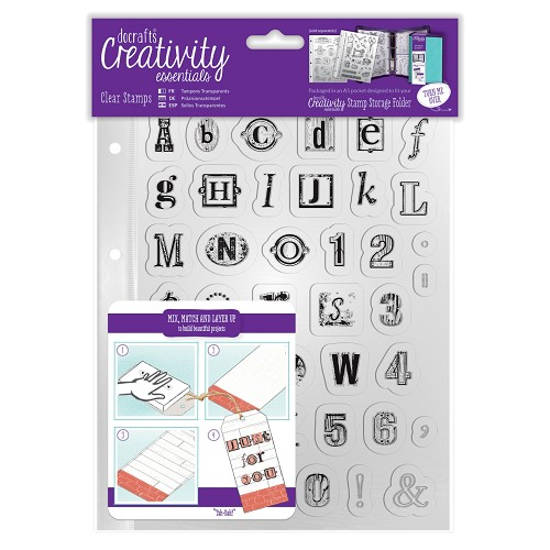 A5 Clear Stamp Set (41pcs) - Alphabet