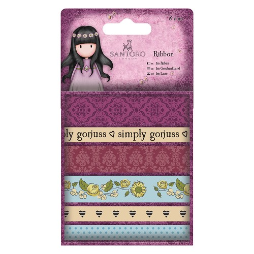 1m Ribbon (6pcs) - Santoro