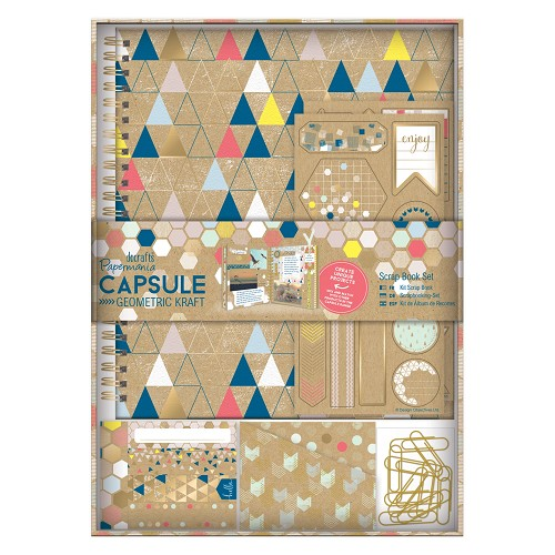 Scrap Book Set - Capsule -  Geometric Kraft