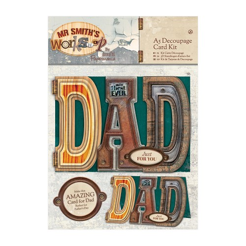 A5 Decoupage Card Kit - Mr Smith's Workshop