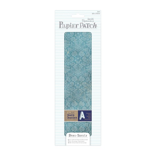 Deco Sheets (3pcs) - Papier Patch - Blue Damask