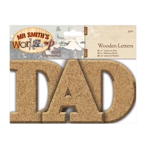 Wooden Letters (3pcs) - Mr Smith's Workshop - DAD