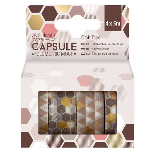 Craft Tape (4x 5m) - Capsule - Geometric Mocha