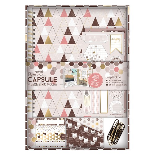 Scrap Book Set - Capsule - Geometric Mocha