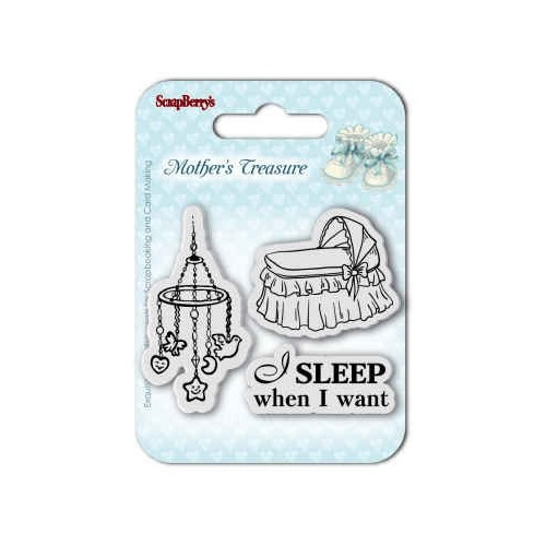 ScrapBerry`s Set of Clear Stamps (7*7cm) Mother`s Treasure – Sleep When I Want
