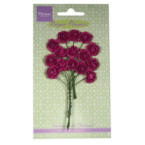 Marianne D Decoration Roses - medium pink  RB2247 (New 03-16)
