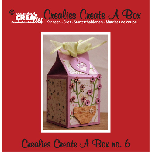 Crealies Create A Box no. 6 milk carton 14,0 x 16,2 cm / CCAB06