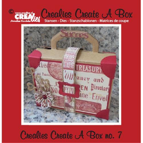 Crealies Create A Box no. 7 Suitcase 14,6 x 15,3 cm / CCAB07