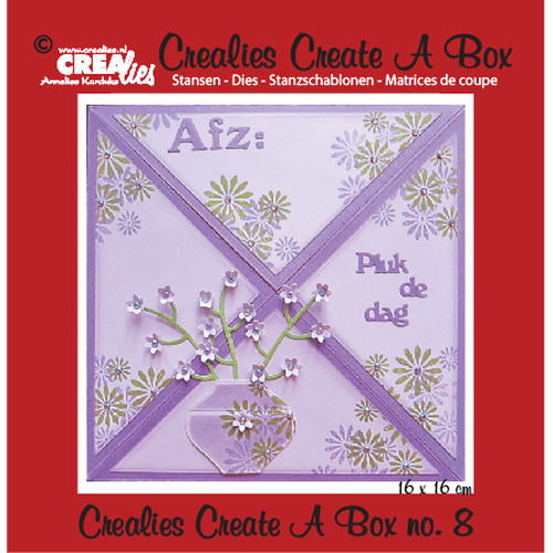 Crealies Create A Box no. 8 Card box 14,6 x 15,9 cm / CCAB08