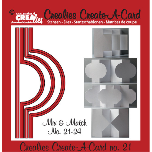 Crealies Create A Card no. 21 stans voor kaart 14,5 x 6,5 cm / CCAC21